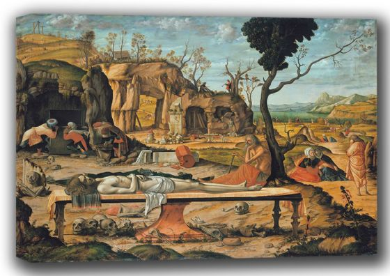 Carpaccio, Vittore: Preparation of Christ's Tomb. Fine Art Canvas. Sizes: A4/A3/A2/A1 (001900)